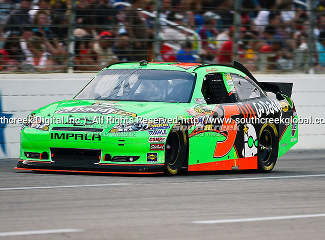 Mark Martin, driver of the (5) GoDaddy.com Chevrolet, in action during the Samsung Mobile 500 Sprint Cup race at Texas Motor Speedway in Fort Worth,Texas.