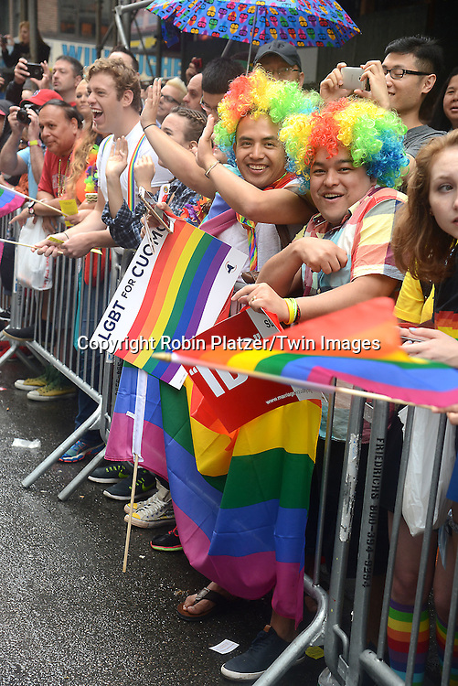 Atmosphere attends the 2015 NYC Pride March on June 28, 2015 on Fifth Avenue in New York City. <br /> <br /> photo by Robin Platzer/Twin Images<br />  <br /> phone number 212-935-0770