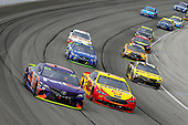 Monster Energy NASCAR Cup Series<br /> Tales of the Turtles 400<br /> Chicagoland Speedway, Joliet, IL USA<br /> Sunday 17 September 2017<br /> Denny Hamlin, Joe Gibbs Racing, FedEx Office Toyota Camry and Joey Logano, Team Penske, Shell Pennzoil Ford Fusion<br /> World Copyright: Russell LaBounty<br /> LAT Images