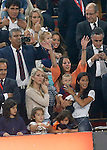 FC Barcelona's players' wifes during Spanish King's Cup Final match. May 30,2015. (ALTERPHOTOS/Acero)