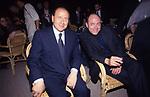 SILVIO BERLUSCONI CON CARLO VERDONE <br /> GLI 80 ANNI DI ALBERTO SORDI <br /> NOMINATO PER L'OCCASIONE SINDACO DI ROMA PER UN GIORNO - 15 GIUGNO 2000