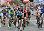 Mark Cavendish (GBR) Etixx-Quick Step wins Stage 1 of the 2015 Presidential Tour of Turkey running 182km from Alanya to Alanya. 26th April 2015.<br /> Photo: Tour of Turkey/Stiehl Photography/Mario Stiehl/www.newsfile.ie