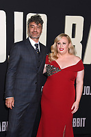 "LOS ANGELES, USA. October 15, 2019: Rebel Wilson & Taika Waititi at the premiere of ""JoJo Rabbit"" at the Hollywood American Legion.<br /> Picture: Paul Smith/Featureflash"