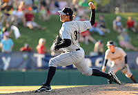 Pitcher Tommy Kahnle (31) of the Charleston RiverDogs, Class A affiliate of the New York Yankees, in a game against the Greenville Drive on May 15, 2011, at Fluor Field at the West End in Greenville, S.C. Photo by Tom Priddy / Four Seam Images