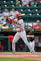Palm Beach Cardinals Moises Castillo (39) at bat during a Florida State League game against the Bradenton Marauders on May 10, 2019 at LECOM Park in Bradenton, Florida.  Bradenton defeated Palm Beach 5-1.  (Mike Janes/Four Seam Images)