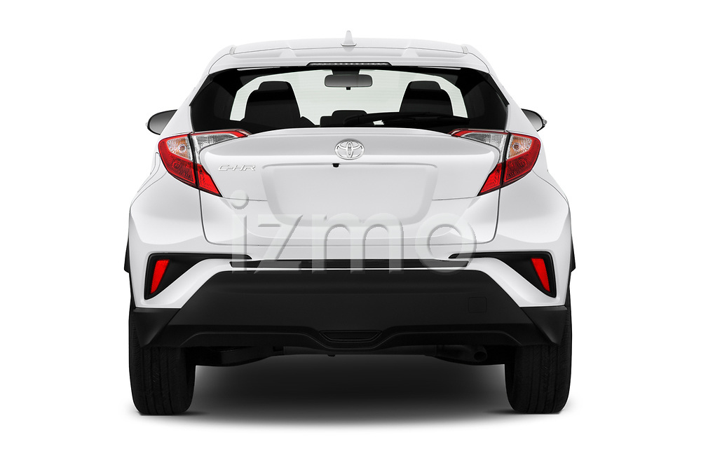 Straight rear view of 2020 Toyota C-HR LE 5 Door SUV Rear View  stock images