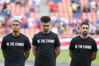 SANDY, UT - JUNE 10: Reggie Cannon, Antonee Robinson, Sebastian Lletget of the United States during a game between Costa Rica and USMNT at Rio Tinto Stadium on June 10, 2021 in Sandy, Utah.