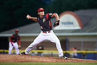 Batavia Muckdogs relief pitcher Brent Wheatley (30) during a game against the West Virginia Black Bears on June 28, 2016 at Dwyer Stadium in Batavia, New York.  Batavia defeated West Virginia 3-1.  (Mike Janes/Four Seam Images)