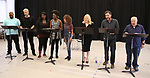 "James Monroe Iglehart, Nick Cordero, Amma Osei, Amber Iman, Allison Semmes, Megan Hilty, Josh Radnor and Lee Wilkof In Rehearsal with the Kennedy Center production of ""Little Shop of Horrors"" on October 11 2018 at Ballet Hispanica in New York City."