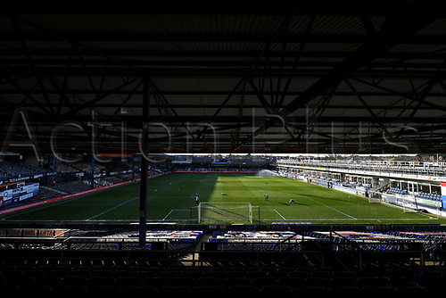 21st April 2021; Kenilworth Road, Luton, Bedfordshire, England; English Football League Championship Football, Luton Town versus Reading; Kenilworth Road stadium empty due to the pandemic ahead of kick off.