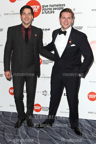 Rob James-Collier and Allen Leech arriving for the Downton Abbey Ball, The Savoy, London.  30/04/2015 Picture by: Alexandra Glen / Featureflash
