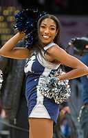 WASHINGTON, DC - JANUARY 28: Georgetown cheerleader during a game between Butler and Georgetown at Capital One Arena on January 28, 2020 in Washington, DC.