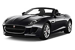 2018 Jaguar F-Type Base 2 Door Convertible angular front stock photos of front three quarter view