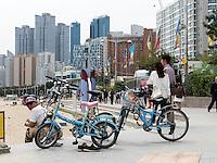 Strand von Haeunda, Busan, Gyeongsangnam-do, Südkorea, Asien<br /> Beach at Haeunda, Busan,  province Gyeongsangnam-do, South Korea, Asia