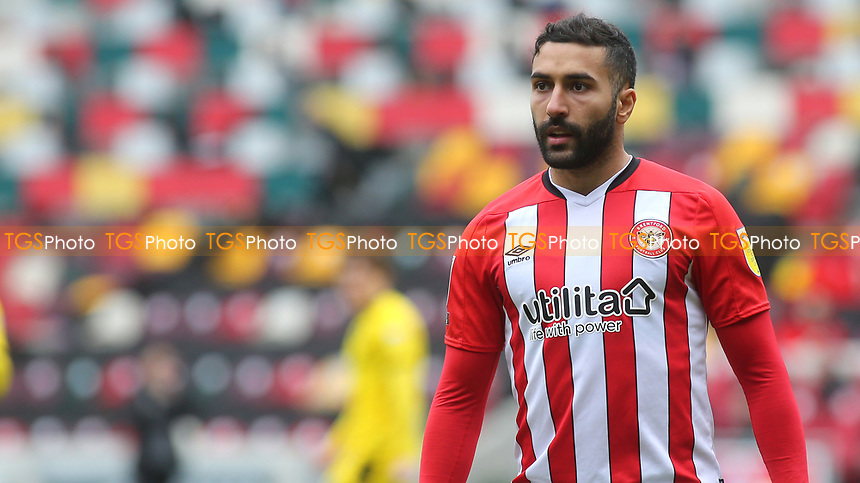 Saman Ghoddos of Brentford during Brentford vs Barnsley, Sky Bet EFL Championship Football at the Brentford Community Stadium on 14th February 2021