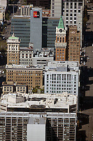 aerial photograph Tribune tower Oakland, California
