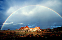 The Images from the Book Journey through Color and Time, A rare rainbow over Rainbow Valley near Alice Springs, Northern territory Australia
