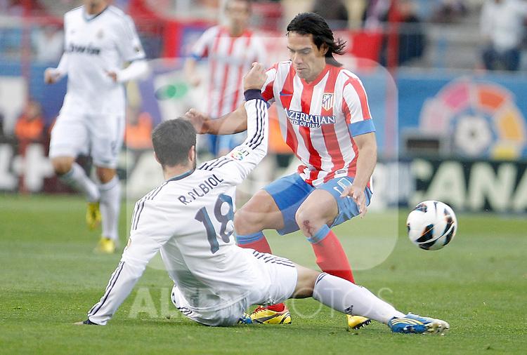 Atletico de Madrid's Radamel Falcao during La Liga match. April 27, 2013. (ALTERPHOTOS/Alvaro Hernandez)
