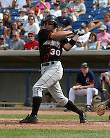 August 24, 2003:  Chris Carter of the Delmarva Shorebirds during a game at Classic Park in Eastlake, Ohio.  Photo by:  Mike Janes/Four Seam Images