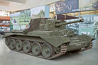 BNPS.co.uk (01202) 558833<br /> Pic: TankMuseum/BNPS<br /> <br /> A Cromwell tank of the type upon which Little Audrey went into battle<br /> <br /> <br /> A delicate china doll that served as the lucky mascot for a British tank crew and miraculously survived the war in one piece has been unearthed by a museum. <br /> <br /> The small doll, called Little Audrey, had been given to Lionel 'Bill' Bellamy by his then girlfriend Audrey before he set out for Normandy in 1944. with the Royal Armoured Corps.<br /> <br /> She was adopted by the troop and was attached to Bellamy's Cromwell tank's searchlight to the right of the turret and she became a good luck charm – and they needed her.<br /> <br /> Little Audrey remained with the men as they fought through France, Belgium, Holland and Germany. She is now going on display at the Tank Museum at Bovington, Dorset.