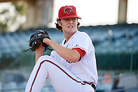 Florida Fire Frogs starting pitcher Ian Anderson (30) warms up in the bullpen before a game against the Palm Beach Cardinals on May 1, 2018 at Osceola County Stadium in Kissimmee, Florida.  Florida defeated Palm Beach 3-2.  (Mike Janes/Four Seam Images)