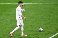 6th July 2021; Wembley Stadium, London, England; Euro 2020 Football Championships semi-final, Italy versus Spain;  Alvaro Morata dejected as his penalty kick was saved