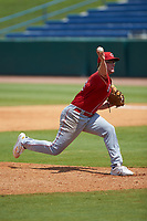 Jay Dill (61) of Baylor School in Dayton, OH playing for the Cincinnati Reds scout team during the East Coast Pro Showcase at the Hoover Met Complex on August 5, 2020 in Hoover, AL. (Brian Westerholt/Four Seam Images)