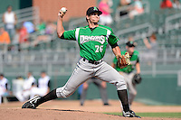 Dayton Dragons pitcher Nick Fleece (26) during a game against the Lansing Lugnuts on August 25, 2013 at Cooley Law School Stadium in Lansing, Michigan.  Dayton defeated Lansing 5-4 in 11 innings.  (Mike Janes/Four Seam Images)