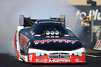 Oct 5, 2013; Mohnton, PA, USA; NHRA funny car driver Jack Beckman during qualifying for the Auto Plus Nationals at Maple Grove Raceway. Mandatory Credit: Mark J. Rebilas-
