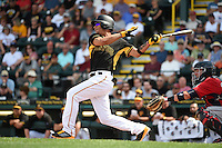 Pittsburgh Pirates outfielder Gorkys Hernandez (70) during a Spring Training game against the Minnesota Twins on March 13, 2015 at McKechnie Field in Bradenton, Florida.  Minnesota defeated Pittsburgh 8-3.  (Mike Janes/Four Seam Images)