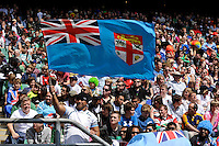 A Fijian fan during the iRB Marriott London Sevens at Twickenham on Sunday 13th May 2012 (Photo by Rob Munro)