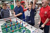 Table football tournaments at Church Street Summer Festival, London.