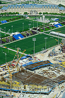 QATAR, Doha, construction site Sportpark Aspire Academy for Sports Excellence for FIFA world cup 2022 / KATAR, Doha, Baustelle Sportpark Aspire Academy for Sports Excellence fuer die  FIFA Fussballweltmeisterschaft 2022, auch Trainingscamp des FC Bayern