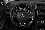 Car pictures of steering wheel view of a 2018 Mitsubishi Outlander Sport SEL 5 Door SUV