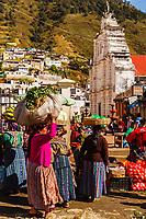 south America, Guatemala. Almolonga market