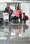 Caroline Bisson and Yves Bourque, Sochi 2014.<br /> Team Canada arrives at the airport in Sochi for the Sochi 2014 Paralympic Winter // Équipe Canada arrive à l'aéroport de Sotchi pour Sochi 2014 Jeux paralympiques d'hiver. 03/03/2014.