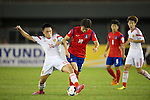 China PR vs South Korea during the 2014 AFC U19 Mens Championship group C match on October 11, 2014 at the Wunna Theikdi Stadium, in Naypyidaw, Myanmar. Photo by World Sport Group