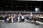 SARATOGA SPRING,NY-AUG 24: Mitole,ridden by Ricardo Santana,Jr,wins the Forego Stakes at Saratoga Race Track on August 24,2019 in Saratoga Spring,New York. Kaz Ishida/Eclipse Sportswire/CSM