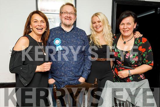 Laimis Kanisauskas from Killarney celebrating his 50th birthday in Croi on Saturday night.<br /> L to r: Birute Blaziene, Laimis Kanisauskas, Ruta Kanisauskaite and Jurate Kanisauskicne