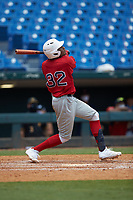 Chris Moore (32) of Suffield Academy in Brooklyn, NY playing for the Boston Red Sox scout team during the East Coast Pro Showcase at the Hoover Met Complex on August 4, 2020 in Hoover, AL. (Brian Westerholt/Four Seam Images)