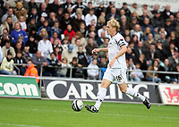 Pictured: Garry Monk of Swansea City in action <br /> Re: Coca Cola Championship, Swansea City Football Club v Southampton at the Liberty Stadium, Swansea, south Wales 25 October 2008.<br /> Picture by Dimitrios Legakis Photography, Swansea, 07815441513