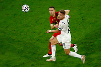 Thomas Vermaelen of Belgium and Ciro Immobile of Italy compete for the ball during the Uefa Euro 2020 round of 8 football match between Belgium and Italy at football arena in Munich (Germany), July 2nd, 2021. Photo Matteo Ciambelli / Insidefoto