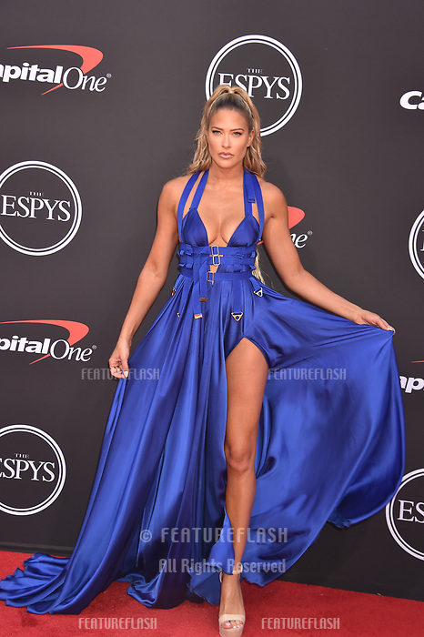 LOS ANGELES, USA. July 10, 2019: Barbara Jean Blank, aka Kelly Kelly, at the 2019 ESPY Awards at the Microsoft Theatre LA Live.<br /> Picture: Paul Smith/Featureflash