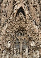 Facade of life, Basilica Sagrada Família, Barcelona, Spain