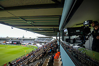 A general view from the main grandstand during the 2nd international women's T20 cricket match between the New Zealand White Ferns and Australia at McLean Park in Napier, New Zealand on Tuesday, 30 March 2021. Photo: Dave Lintott / lintottphoto.co.nz