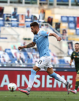 Football, Serie A: S.S. Lazio - Brescia, Olympic stadium, Rome, July 29, 2020. <br /> Lazio's Sergej Milinkovic-Savic in action during the Italian Serie A football match between S.S. Lazio and Brescia at Rome's Olympic stadium, Rome, on July 29, 2020. <br /> UPDATE IMAGES PRESS/Isabella Bonotto
