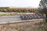 The peloton during Stage 1 of the CERATIZIT Challenge by La Vuelta 2020, running 82.8km from Toledo to Escalona, Spain. 6th November 2020.<br /> Picture: Antonio Baixauli López/BaixauliStudio | Cyclefile<br /> <br /> All photos usage must carry mandatory copyright credit (© Cyclefile | Antonio Baixauli López/BaixauliStudio)
