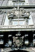 Italy: Naples--Royal Palace, entrance. Photo '83.
