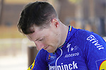 Sam Bennett (IRL) Deceuninck-Quick Step before Stage 2 of the 2021 UAE Tour an individual time trial running 13km around  Al Hudayriyat Island, Abu Dhabi, UAE. 22nd February 2021.  <br /> Picture: Eoin Clarke | Cyclefile<br /> <br /> All photos usage must carry mandatory copyright credit (© Cyclefile | Eoin Clarke)