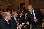 GIOVANNIO MALAGO', PAOLO SCARONI E DIEGO DELLA VALLE<br /> PREMIO GUIDO CARLI - TERZA  EDIZIONE<br /> PALAZZO DI MONTECITORIO - SALA DELLA LUPA<br /> CON RICEVIMENTO  HOTEL MAJESTIC   ROMA 2012